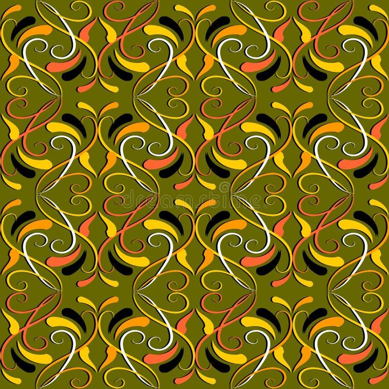 Vintage colorful floral vector seamless pattern. Damask ornament vector illustration