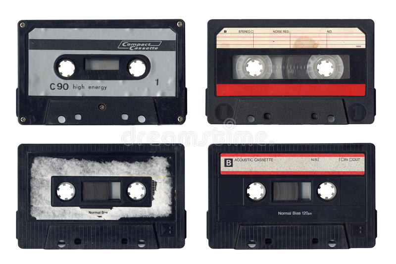 Vintage Compact Cassettes royalty free stock image