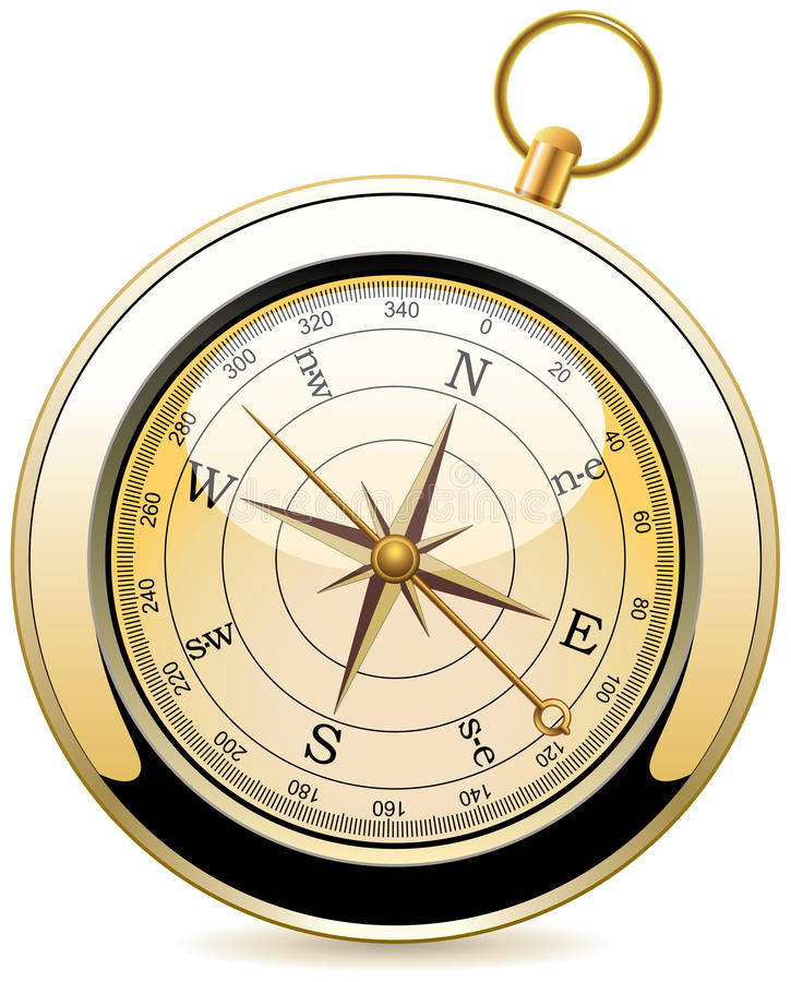 Vintage compass royalty free stock photography