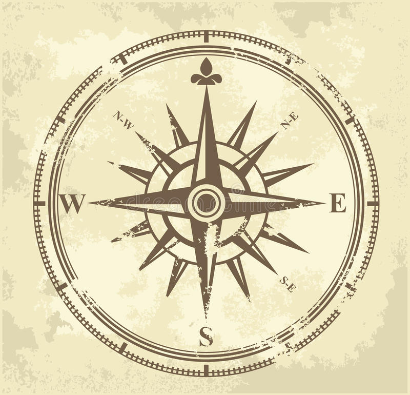 Download Vintage compass stock vector. Illustration of cartography - 28936469