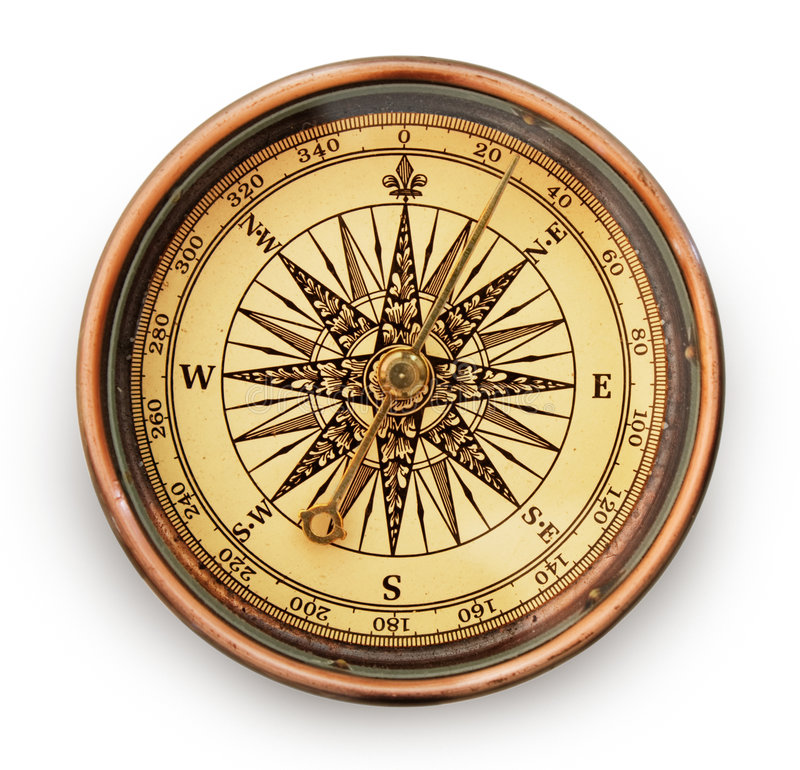 Vintage compass royalty free stock photo