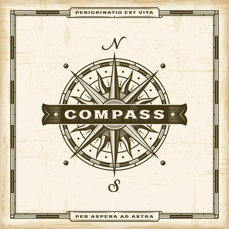 Free Vintage Compass Label Stock Images - 112508704