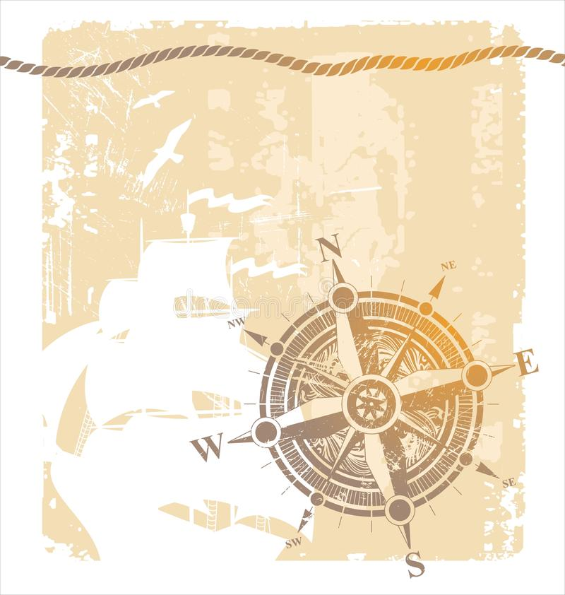 Download Vintage compass rose stock vector. Image of ship, south - 9391904