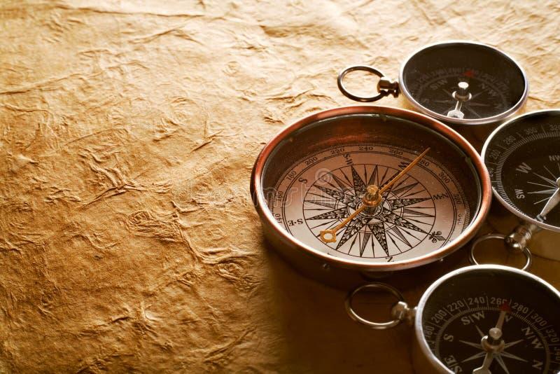 Vintage compasses stock image