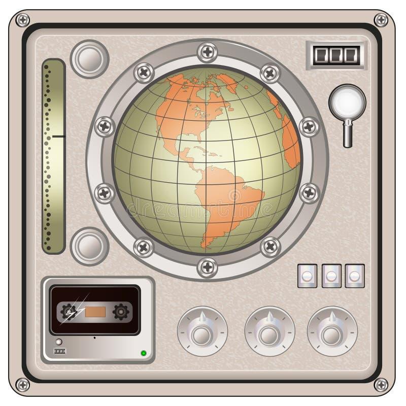 Vintage control panel icon. Vector illustration of a vintage control panel icon royalty free illustration
