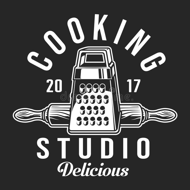 Vintage cooking label template stock illustration