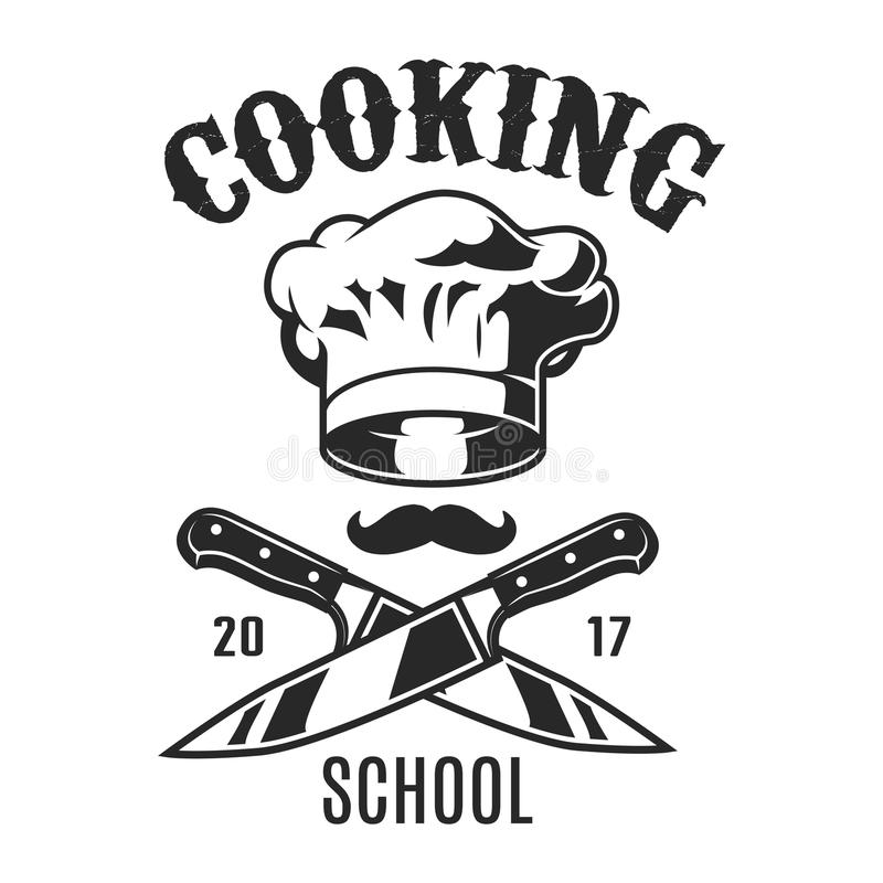 Vintage cooking logo royalty free illustration