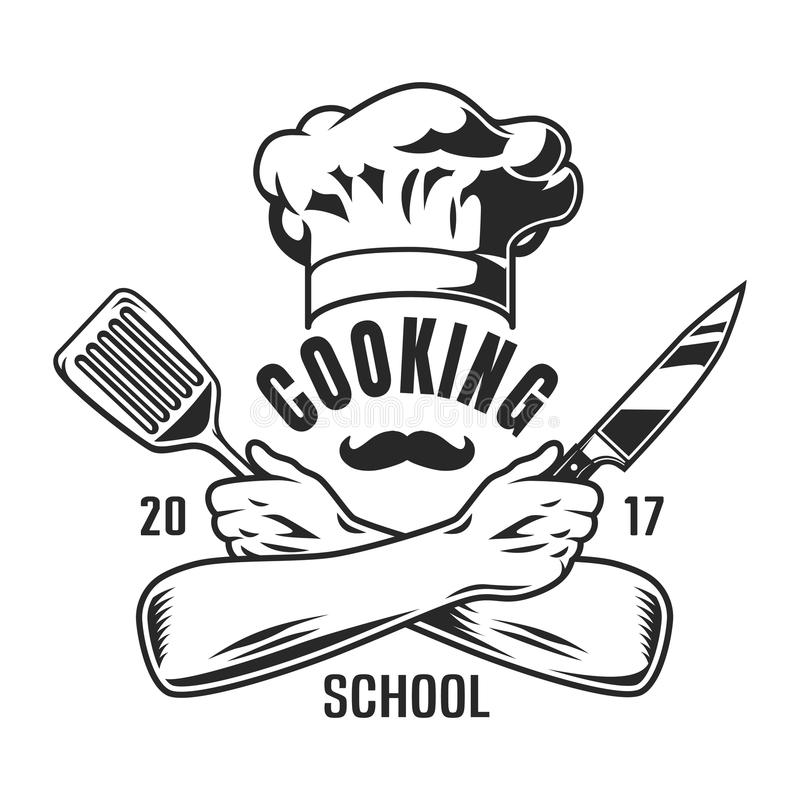Vintage cooking logo vector illustration