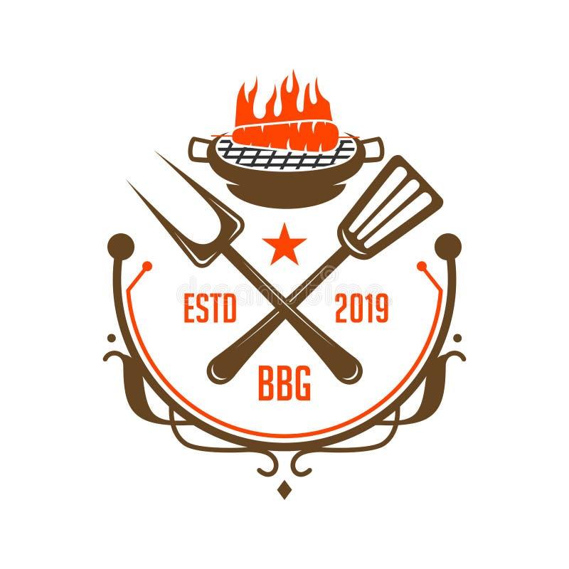 Vintage cooking logo stock illustration