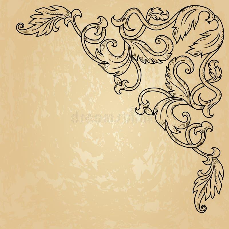 Vintage corner ornament vector illustration