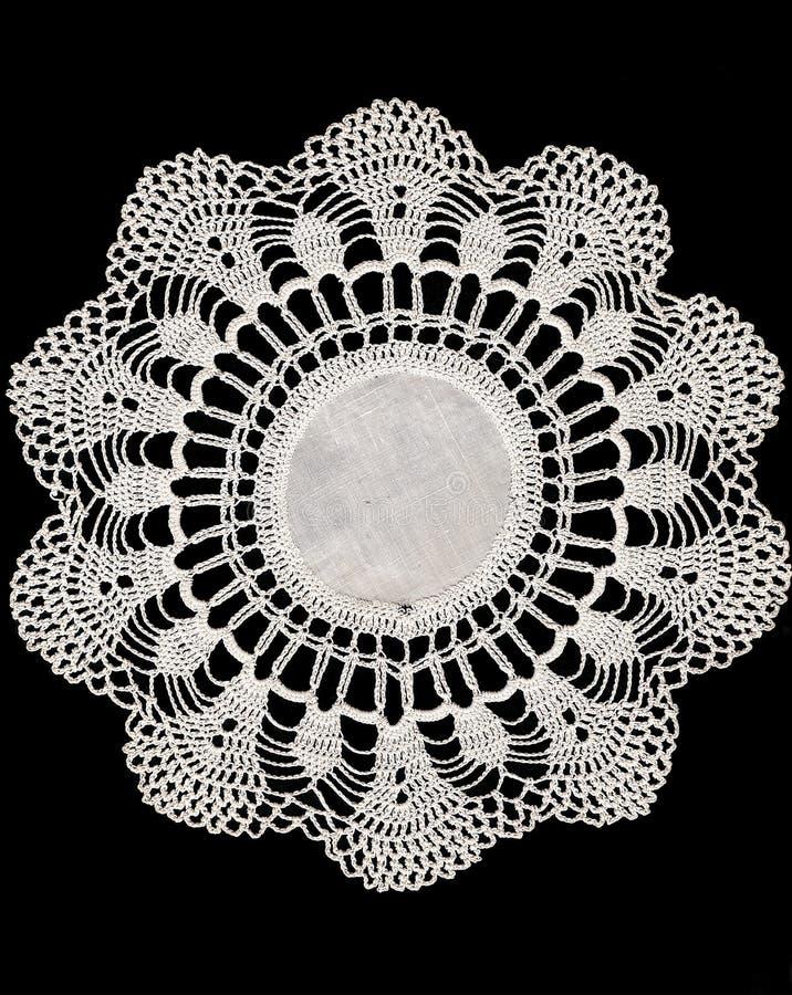 Vintage Cotton Doily stock photo
