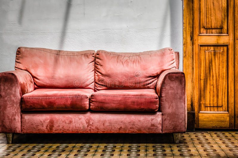Download Vintage Couch stock photo. Image of wall, sofa, fashioned - 26454728