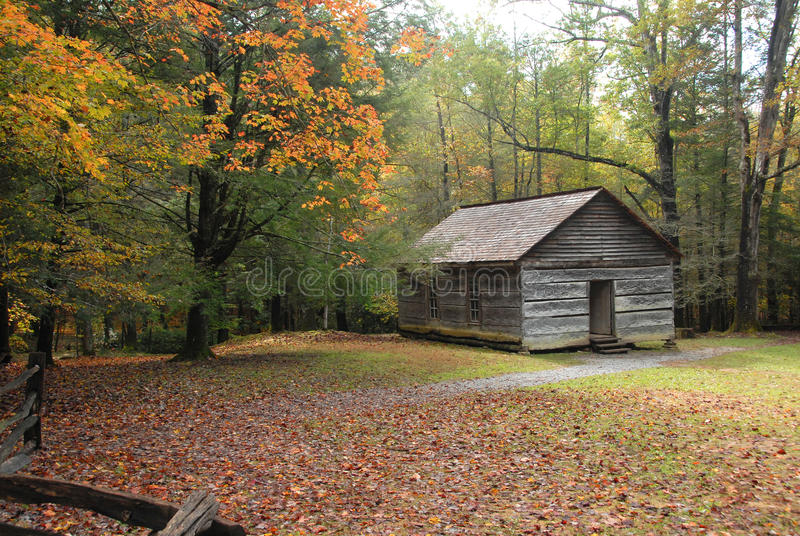 Vintage country one room school house. royalty free stock photography