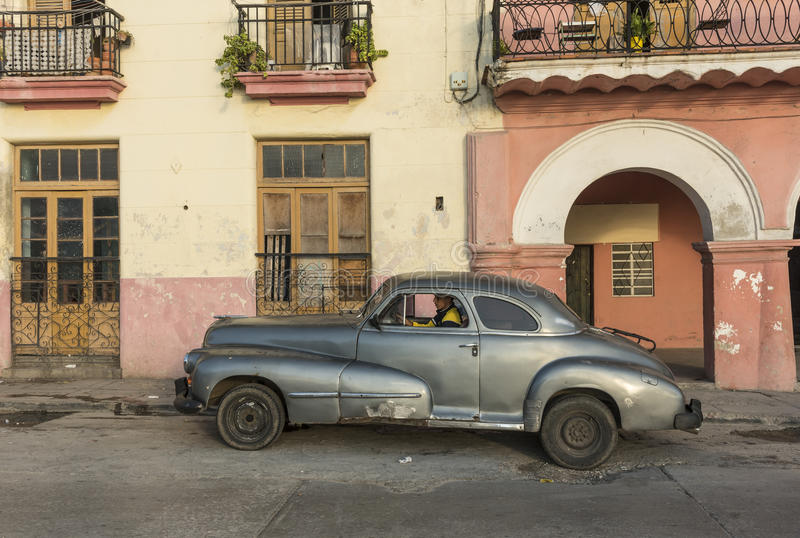 Vintage coupe car 40s Havana stock photo