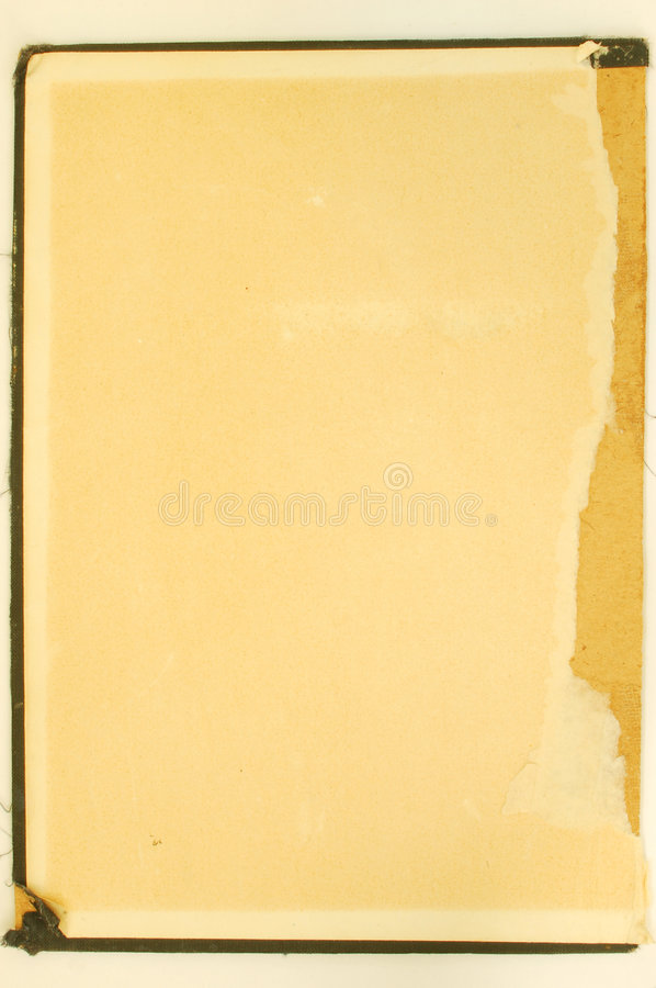 Vintage cover #2. Old yellow book cover stock photo