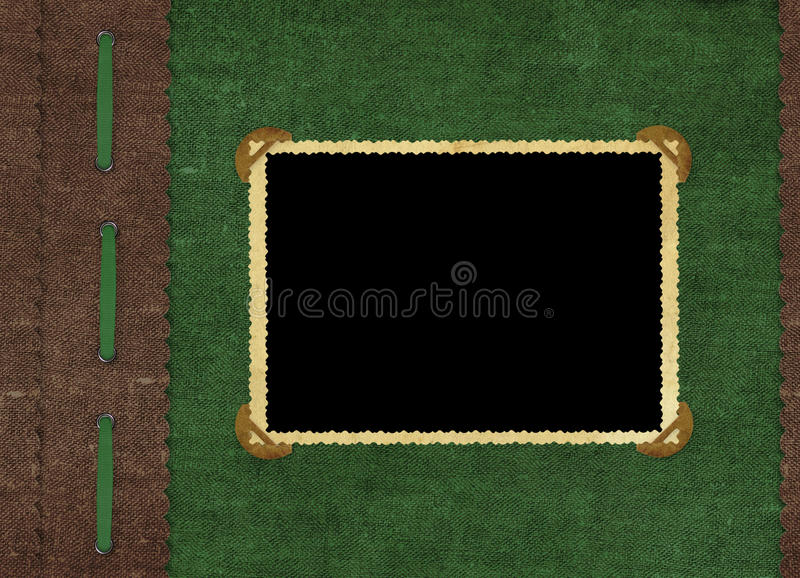 Vintage cover for an album with photos royalty free stock images