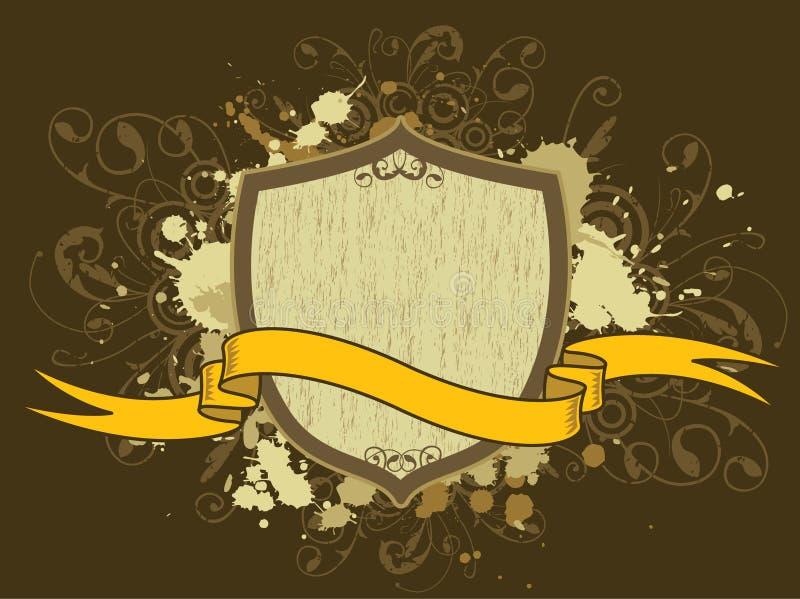 Vintage Crest stock illustration