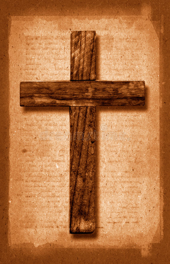 Download Vintage Cross stock image. Image of wooden, christian - 11392583
