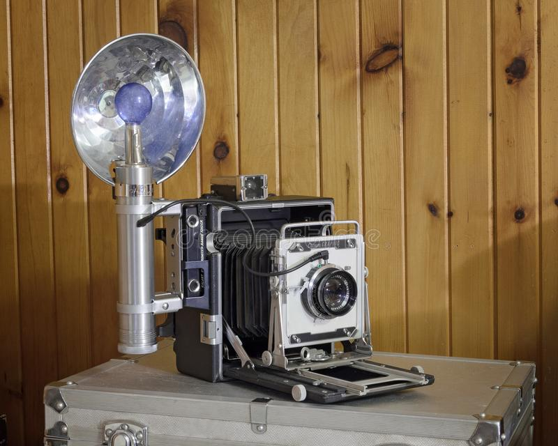 Vintage Crown Graphic Press Camera stock afbeelding