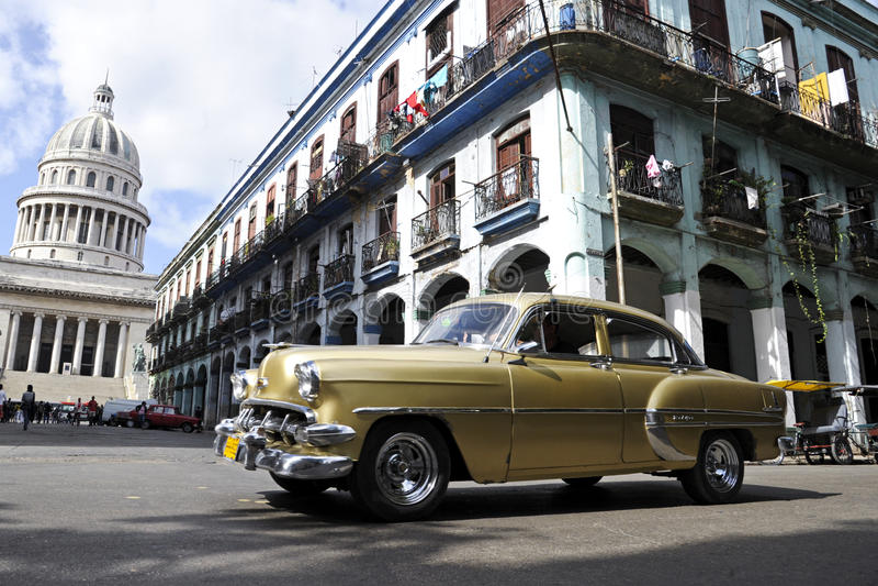 Vintage Cuban Car stock image