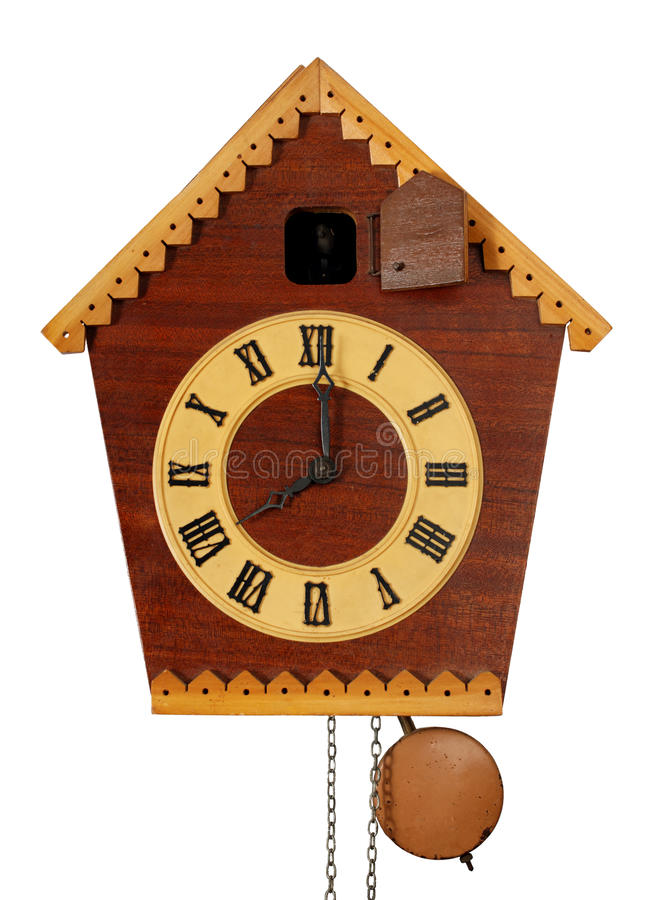 Download Vintage Cuckoo Clock stock image. Image of design, isolated - 13073673