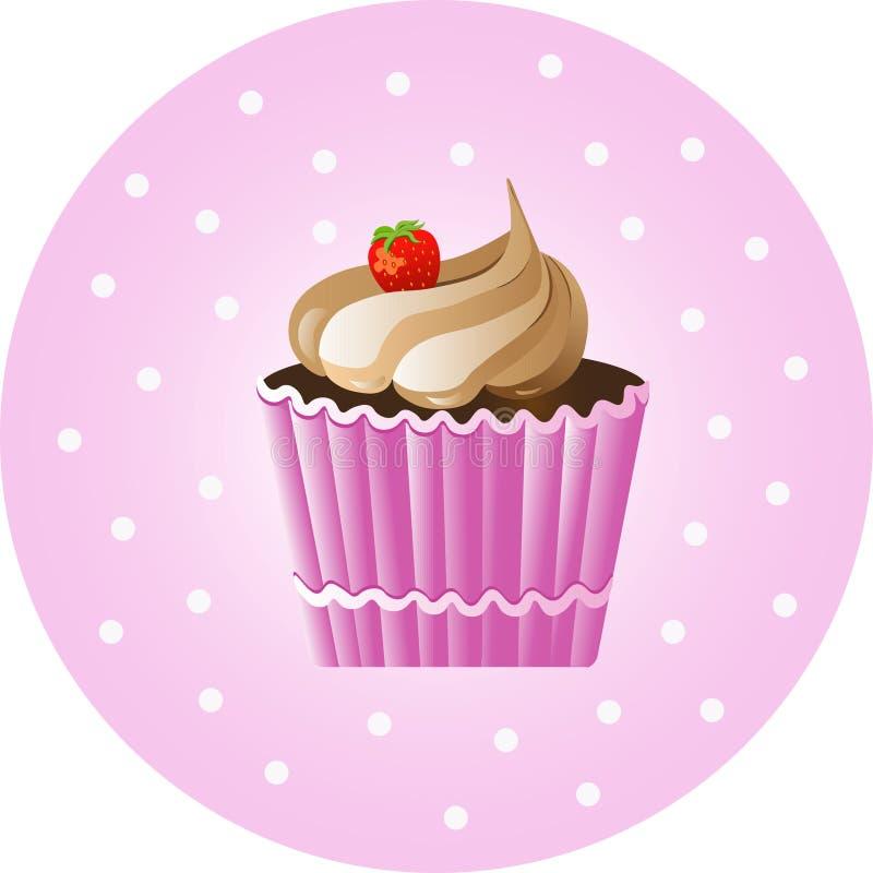 Vintage Cupcake Poster. Vector illustration vector illustration