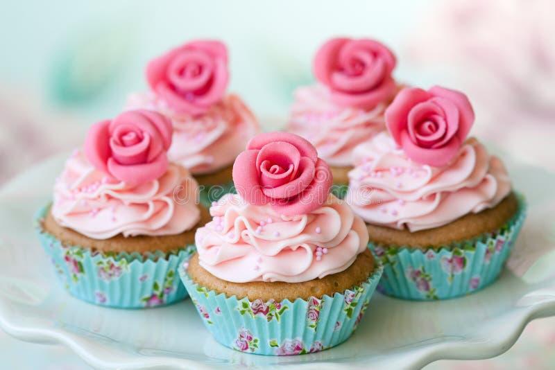 Vintage cupcakes stock photos
