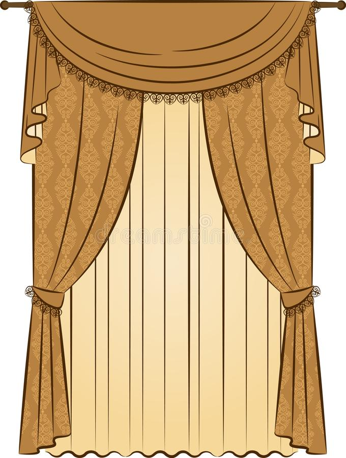 Download The Vintage Curtain Stock Photo - Image: 21033880