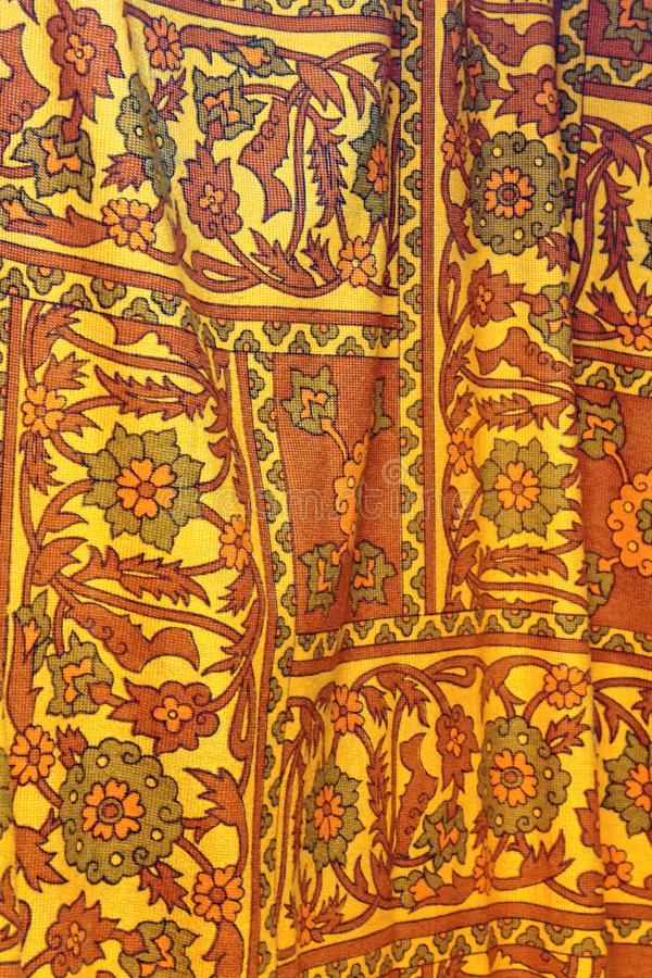 Vintage Curtain Fabric stock photography