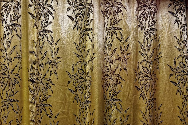 Vintage Curtain Material stock photo