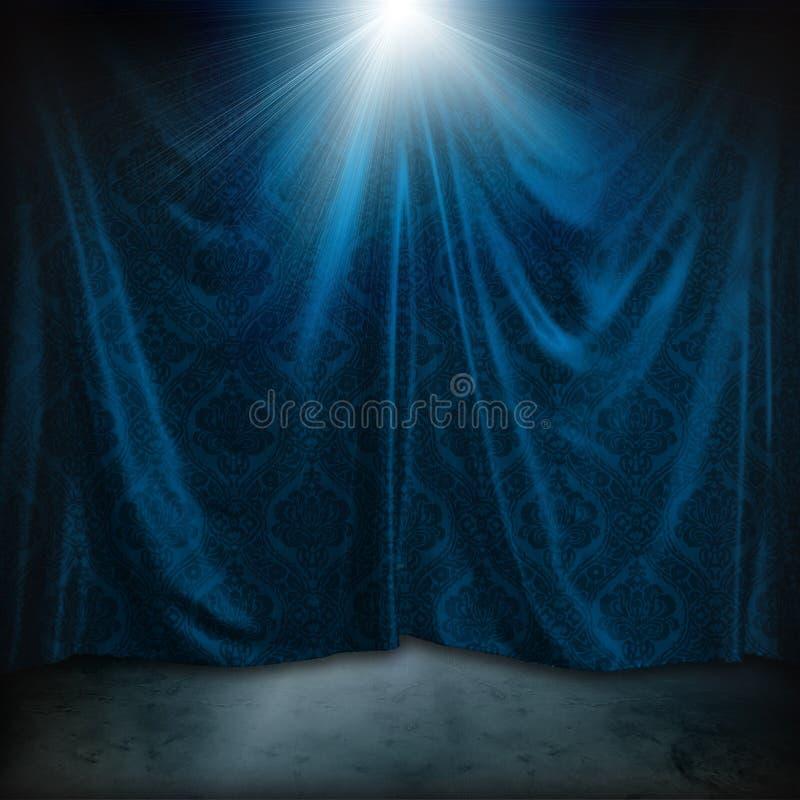 Download Vintage curtains stock illustration. Illustration of graphic - 8253760