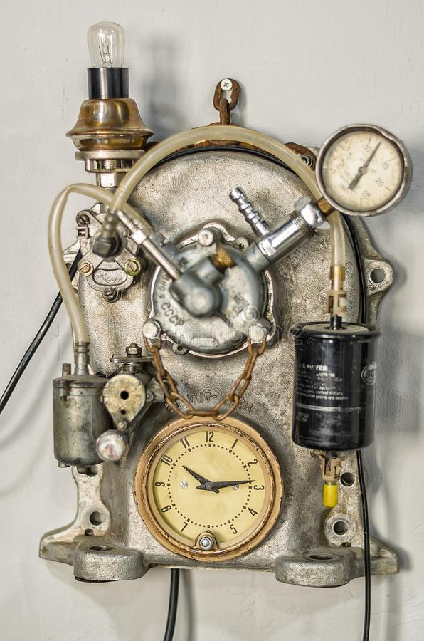 Vintage custom steampunk device royalty free stock images