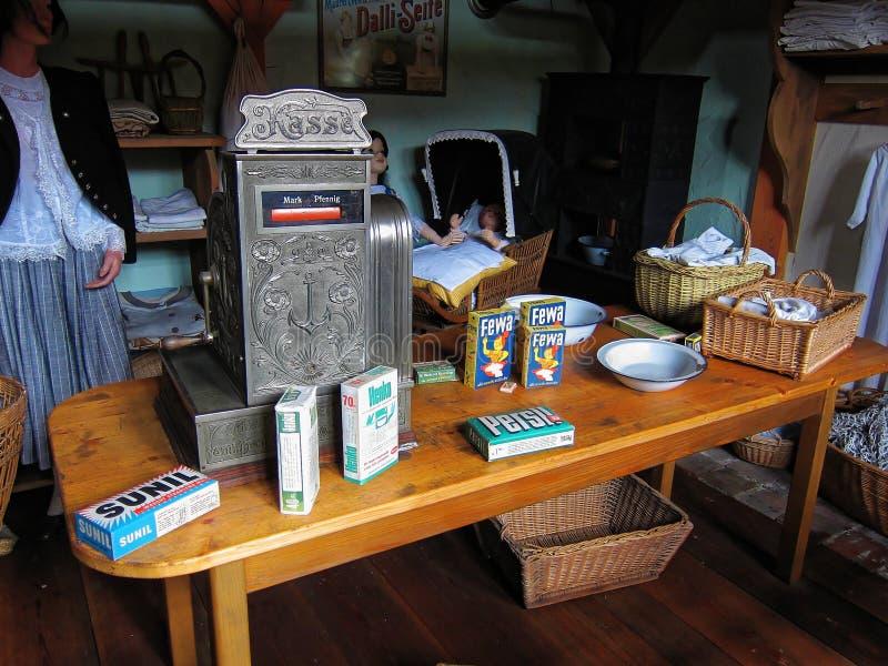 Vintage da loja da lavanderia imagem de stock royalty free