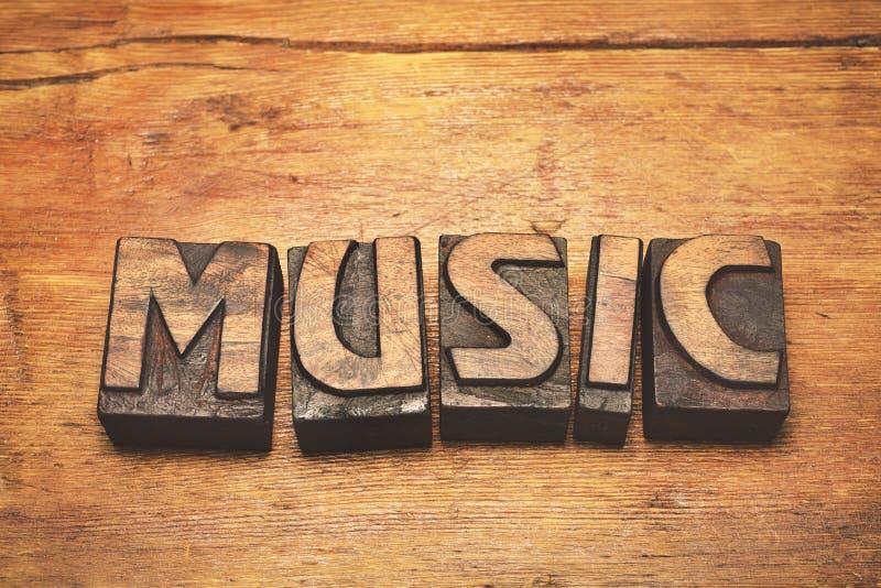 Vintage da madeira da música fotografia de stock royalty free