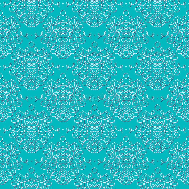 Download Vintage Damask Pattern Linear Vector Background Stock Vector - Illustration: 28263450