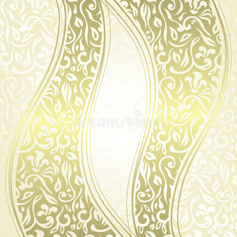 Download Vintage Damask Seamless Background With A Ribbons Stock Vector - Illustration: 29890908