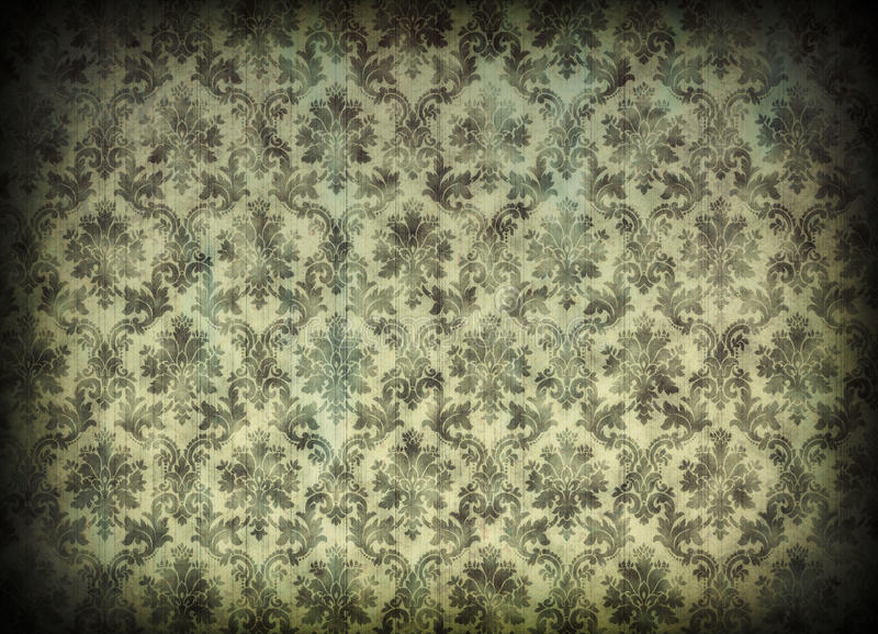 Download Vintage Damask Wallpaper Royalty Free Stock Photography - Image: 25609767
