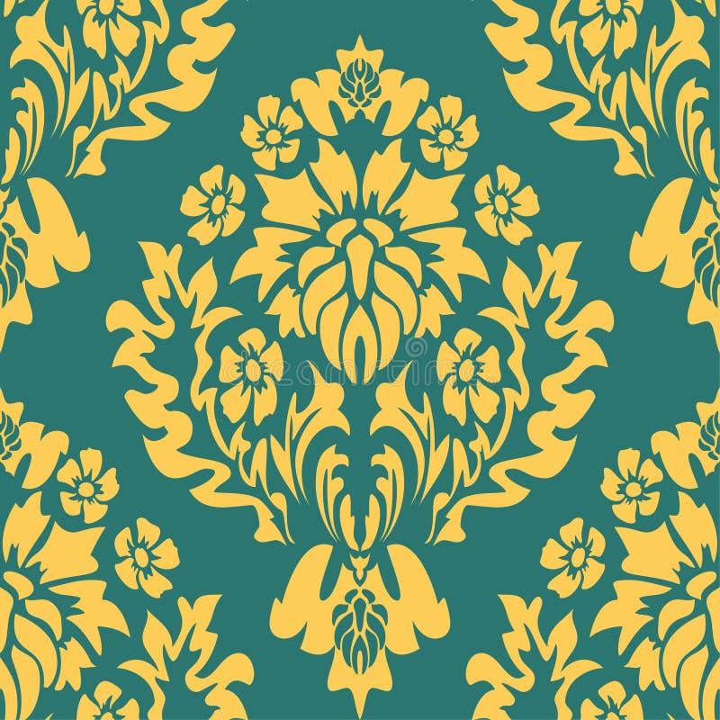 Vintage Damast Muster, großartiges Design für jeden Zweck Vektor-Blumenstaub nahtlos Vintage Hintergrund nahtlos stock abbildung