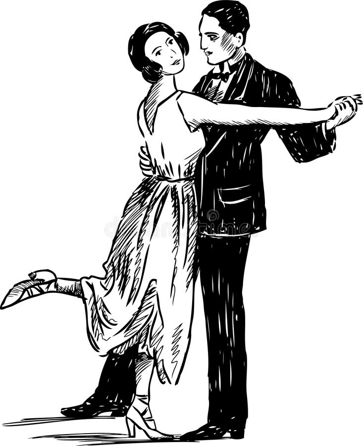 Free Vintage Dancing Couple Stock Photography - 28292912