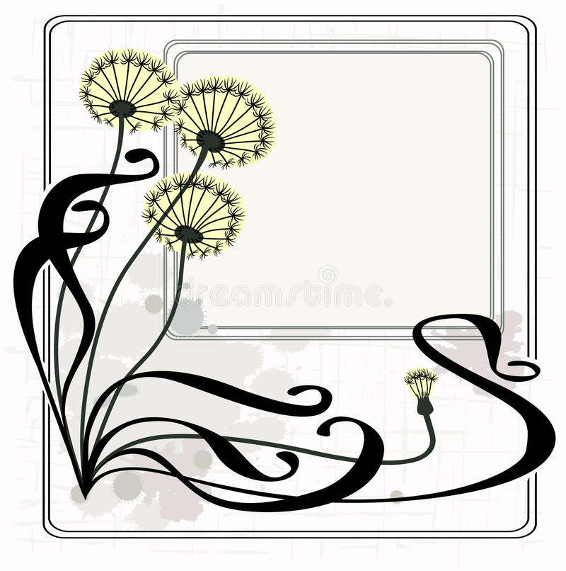 Vintage dandelions vector illustration