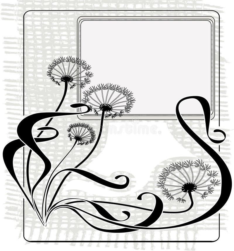 Vintage dandelions royalty free illustration