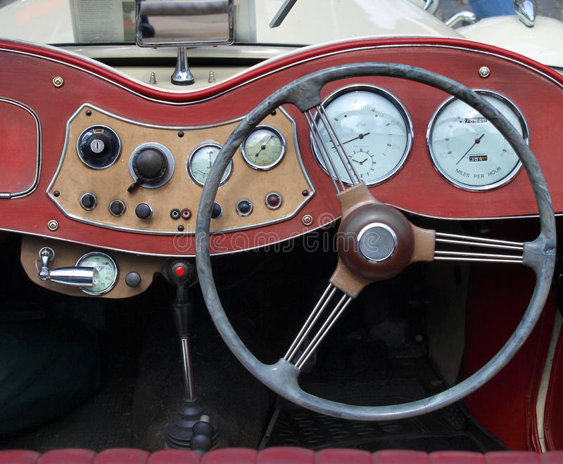 Download Vintage  dashboard stock photo. Image of dash, classic - 10585564