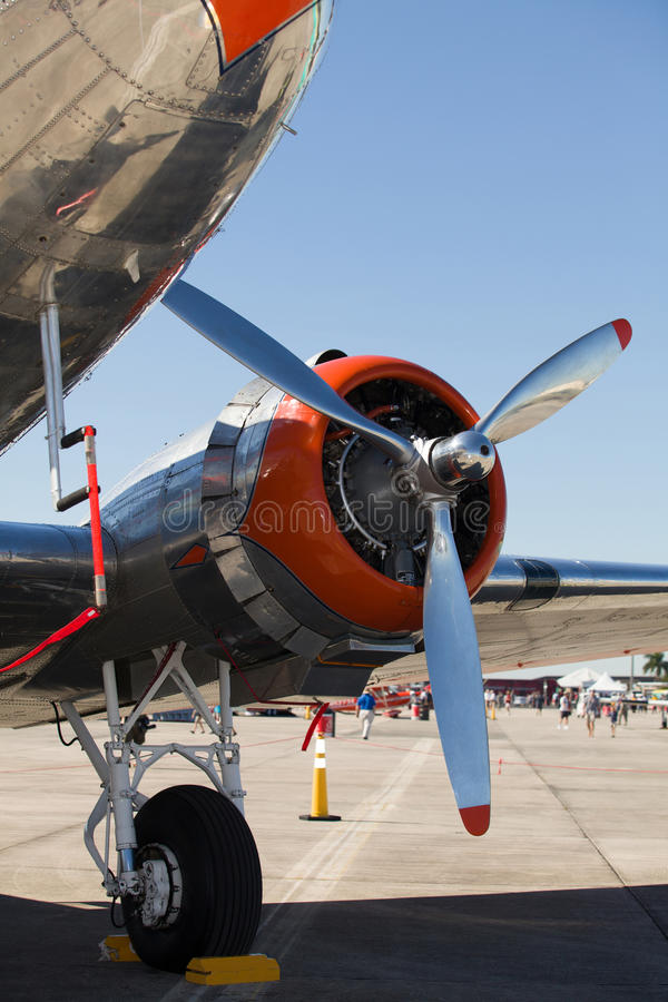 Download Vintage DC-3 airplane stock image. Image of 3, color - 27524773