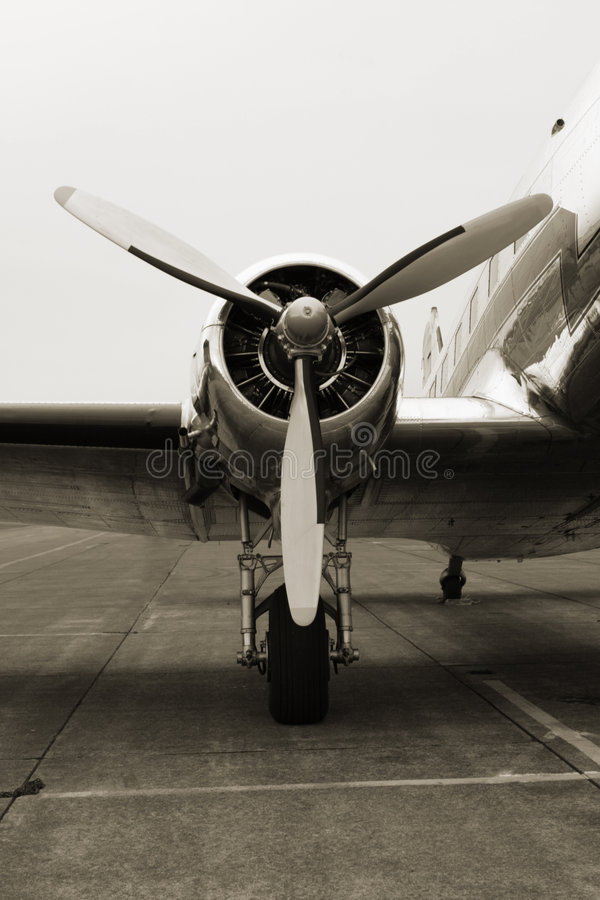 Vintage DC3 Engine stock image