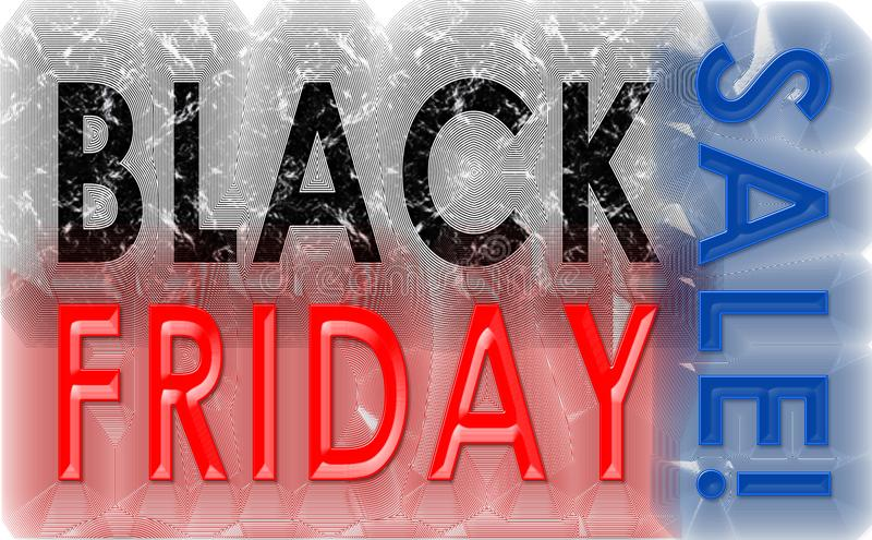 Vintage de grunge de Black Friday illustration libre de droits