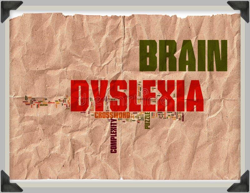Vintage de grunge de dyslexie de cerveau photos stock