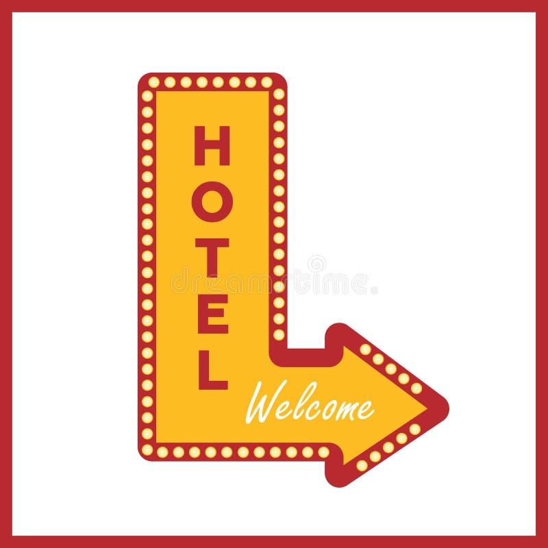 Vintage de la bandera del hotel ilustración del vector