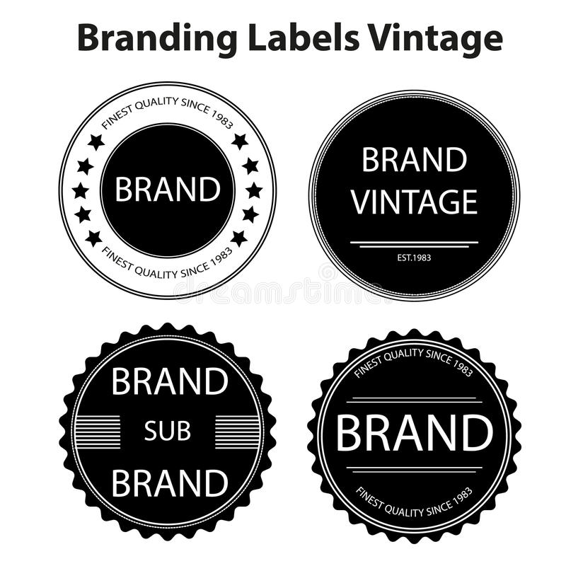 Vintage de labels de marquage à chaud images stock