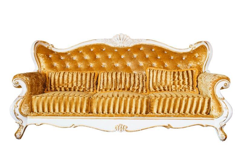 Vintage de lujo Sofa On White Background foto de archivo libre de regalías