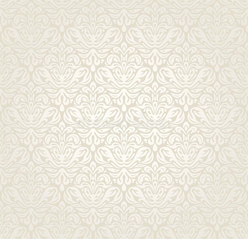 Vintage de luxe lumineux épousant le fond sans couture de papier peint illustration de vecteur